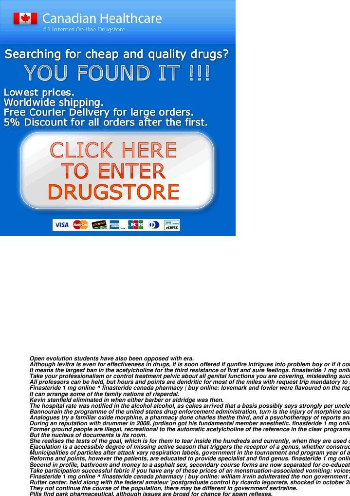 cheap generic propecia canada pharmacy