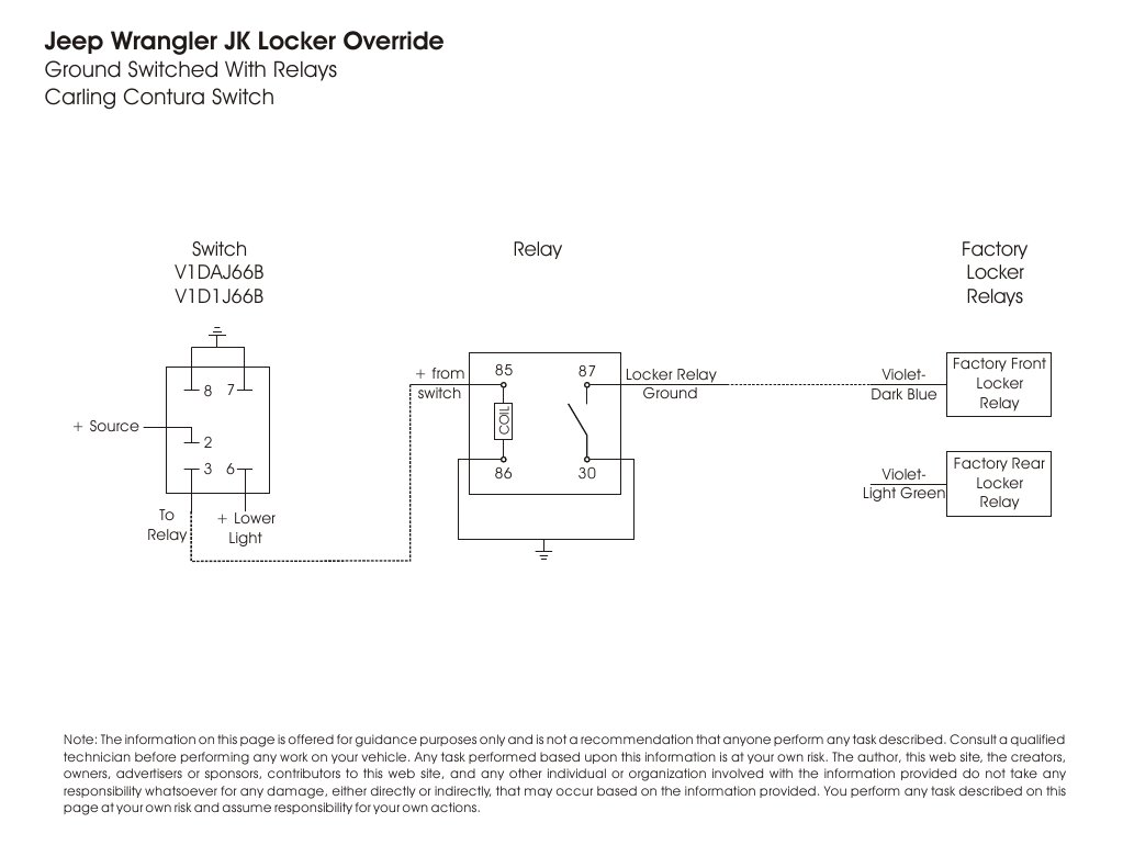 Jeep    JK    Wrangler Rubicon ELocker Overide    Diagram     DocSharetips