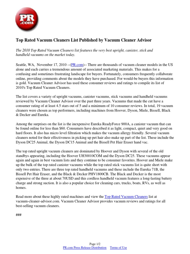 Top Rated Vacuums download best pet hair vacuums list releasedvacuum cleaner