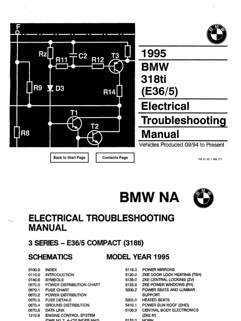 Download 1995 BMW 318ti Electrical Troubleshooting Manual ... on