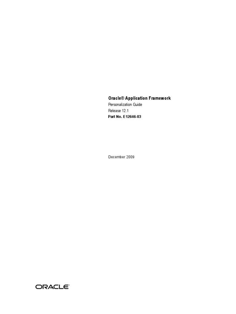 download 121 oracle application framework personalization guide rh docshare tips oa framework beginners guide pdf oa framework beginners guide pdf