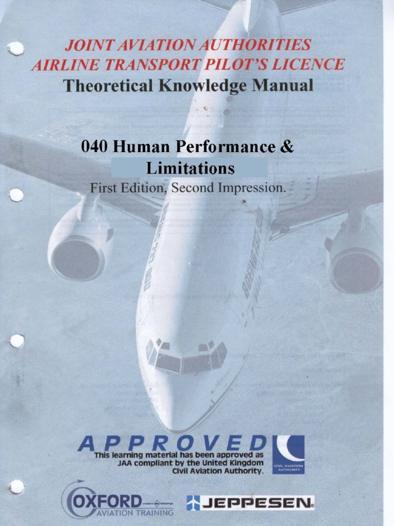 Download Jaa Atpl Book 08 - Oxford Aviation Jeppesen - Human Performance -  DocShare.tips
