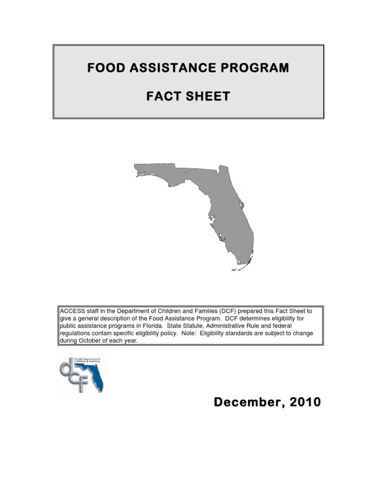 Florida Food Stamp Program Updated December 2010