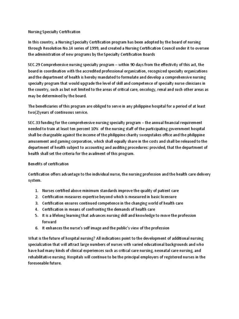 Download Doh Nursing Certification Program Ncp Docshare