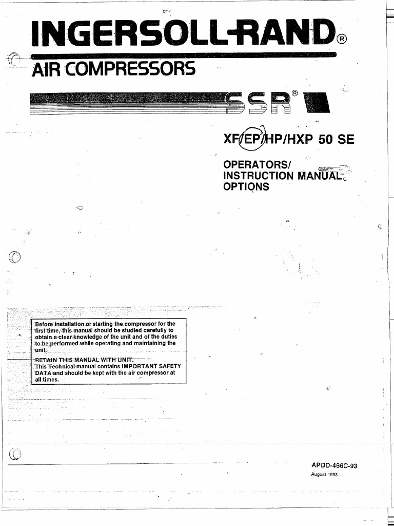 download ingersoll rand ssr instruction manual xf ep hp hpx 50 se rh docshare tips ingersoll rand ssr ep 100 manual español ingersoll rand ssr ep 100 manual español