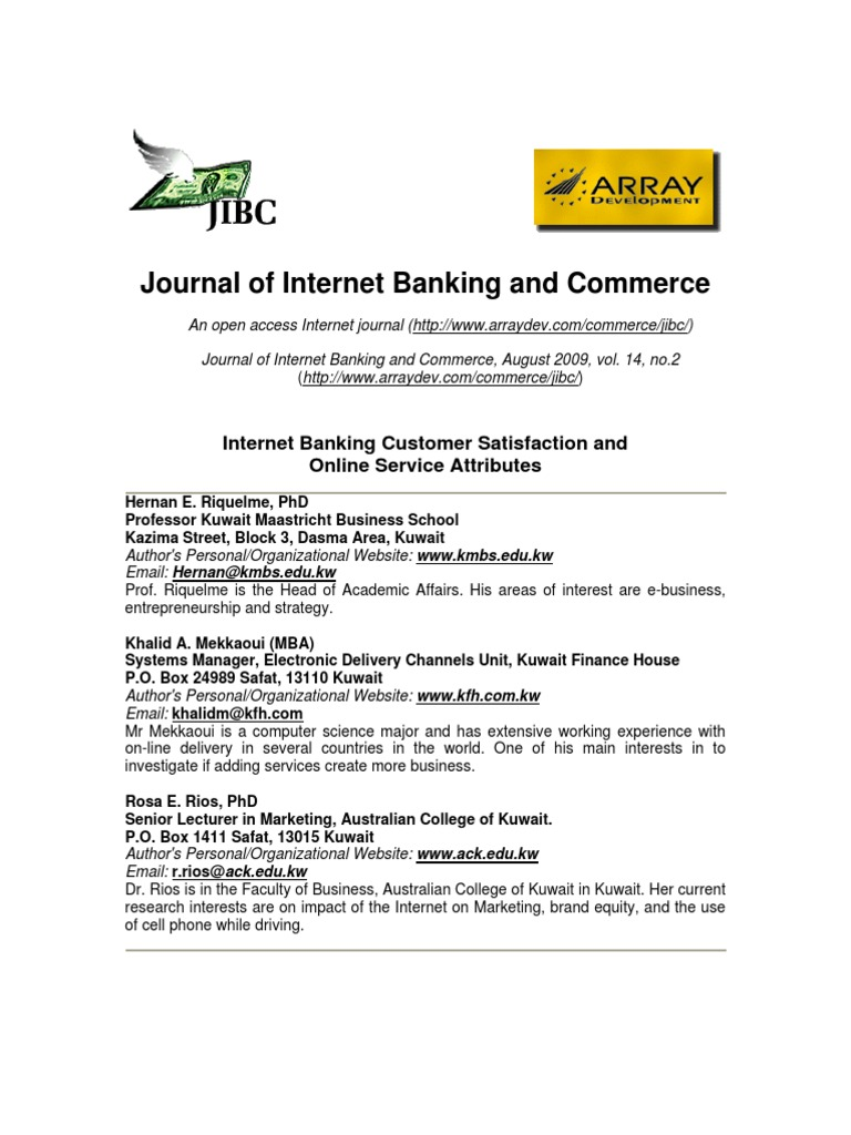 customers satisfaction on internet banking services