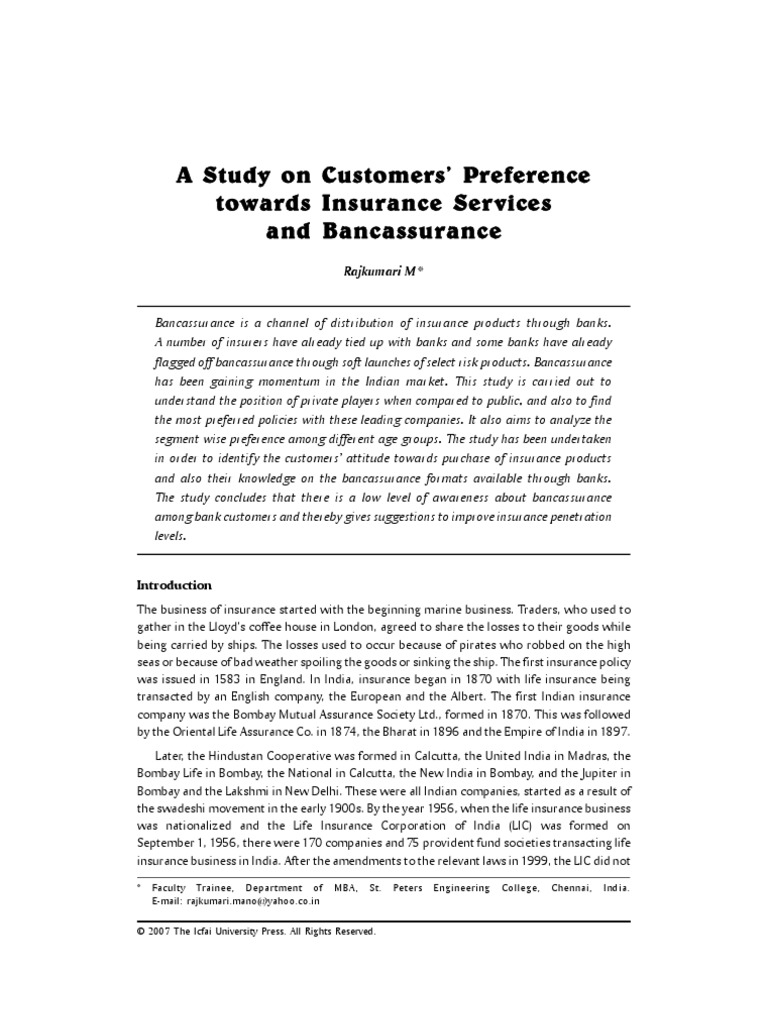 project report on a study on customer perception towards service quality