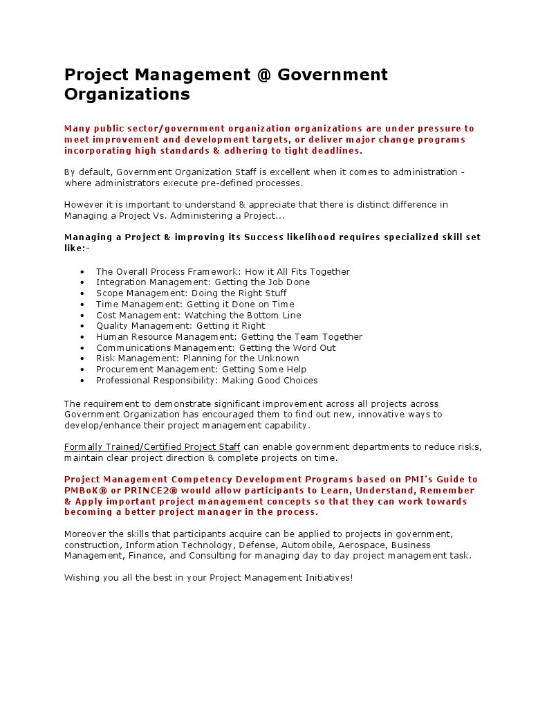 Project Management Professional Certification Training Docshare