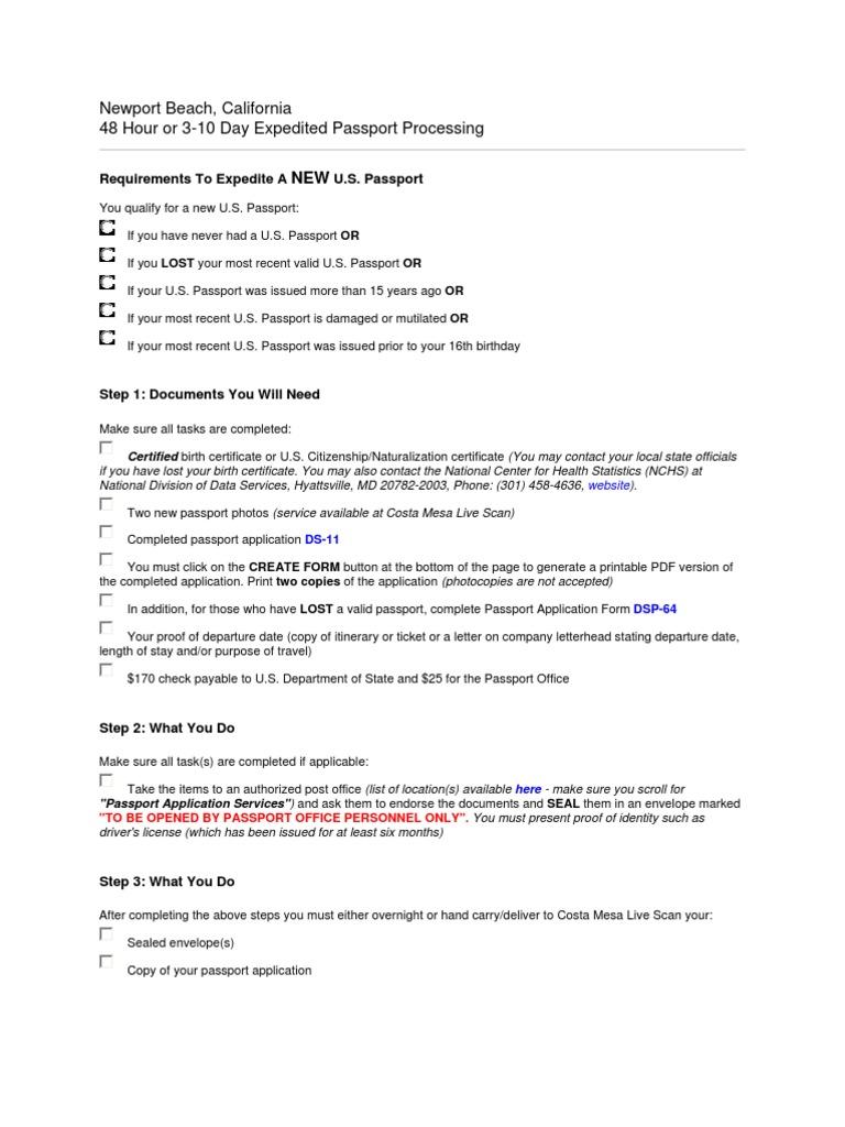 Download Long Beach Rush Passport Tustin Rush Passport Cota De