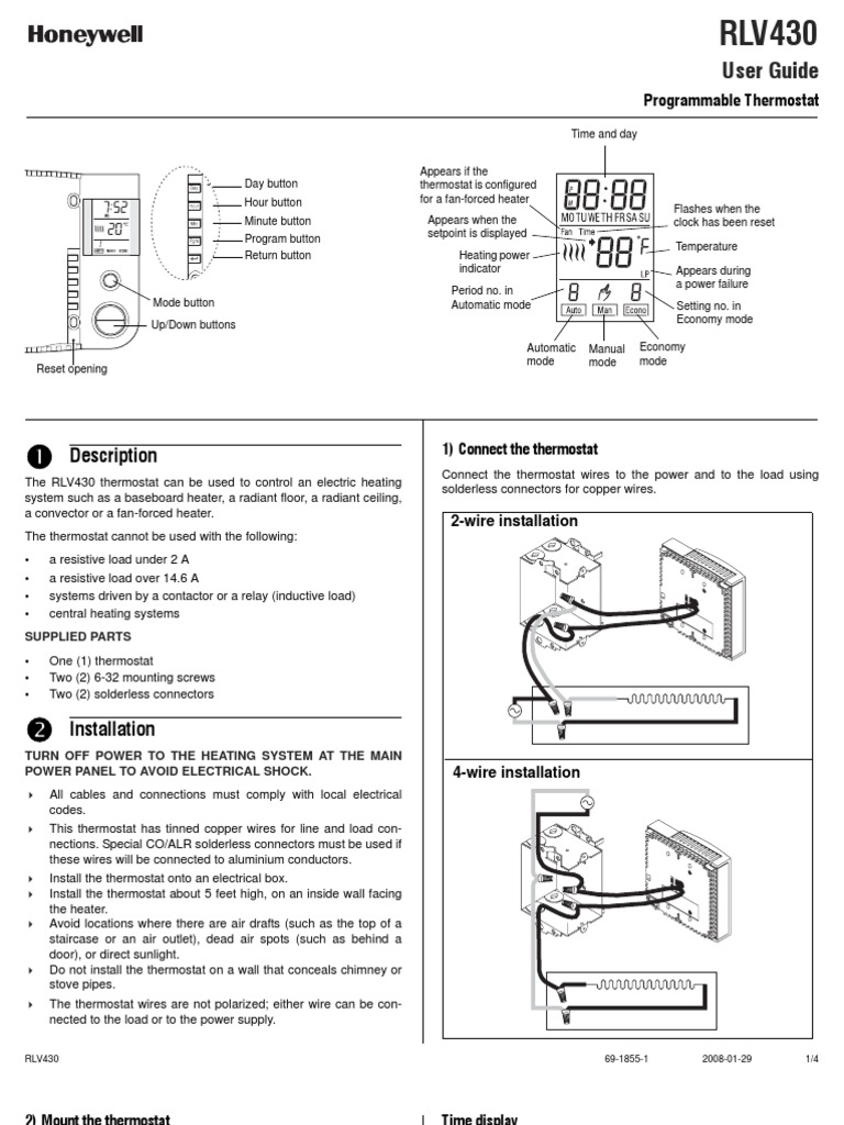 robertshaw thermostat line voltage 3 phase wiring diagram thermostat free printable