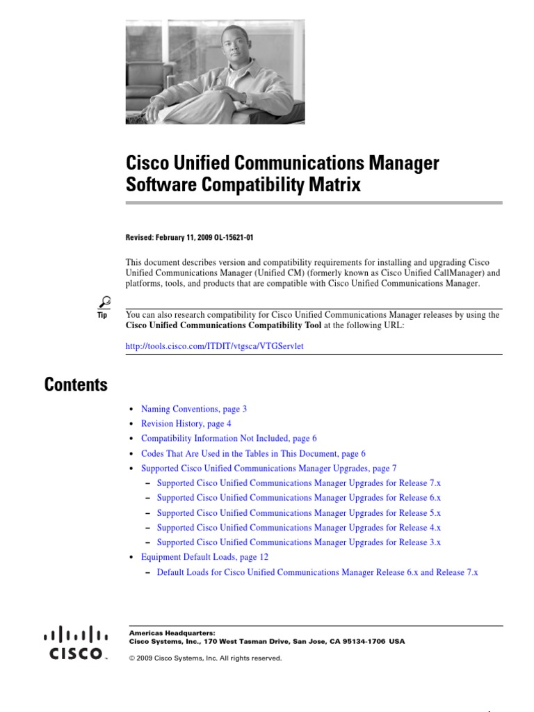 ccm Compatibility matrix - DocShare tips