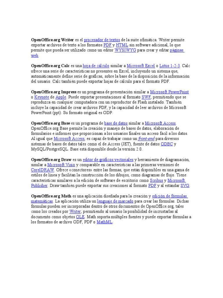 Download Creación de Plantillas OpenOffice - DocShare tips