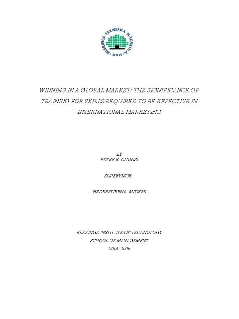 MBA Thesis