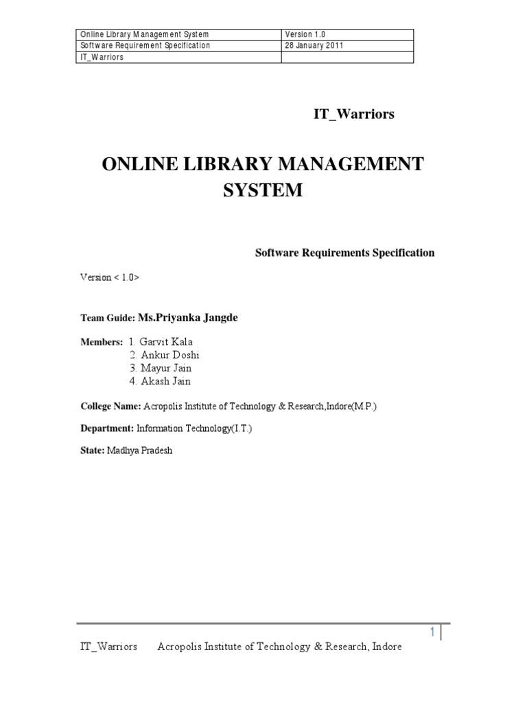 Srs management system
