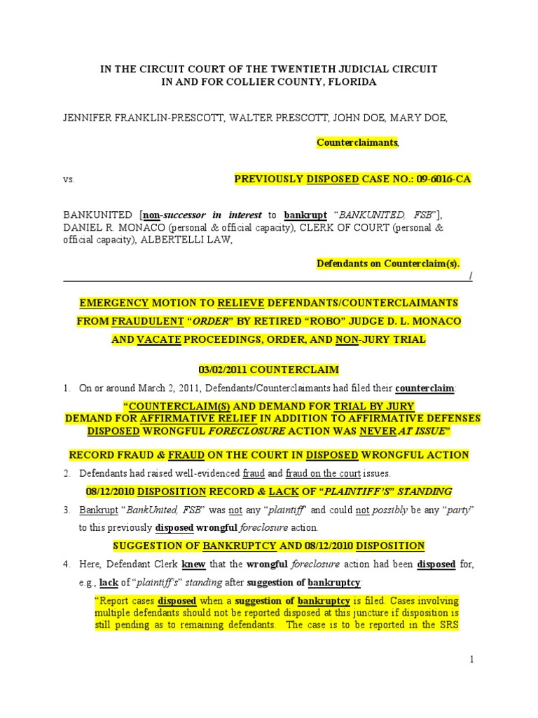 Download Sample Motion to Vacate Dismissal in California ...
