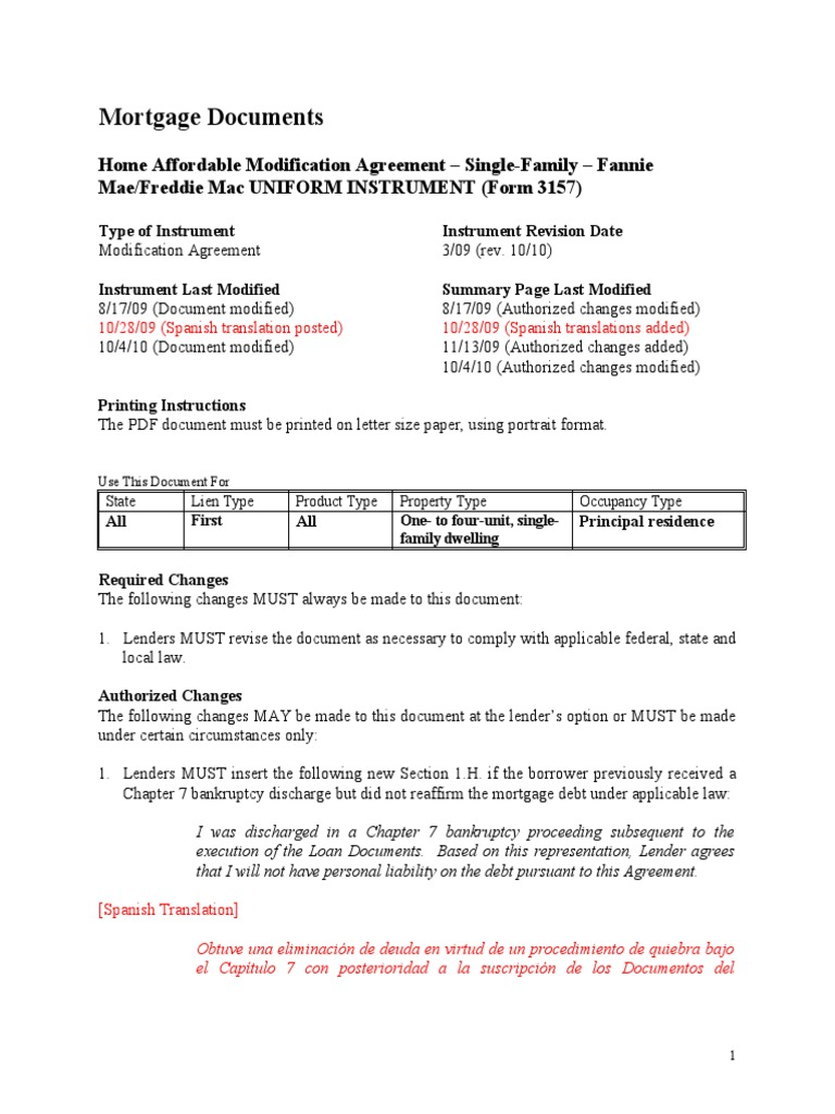 Download Mortgage Loan Modification Agreement Docshare