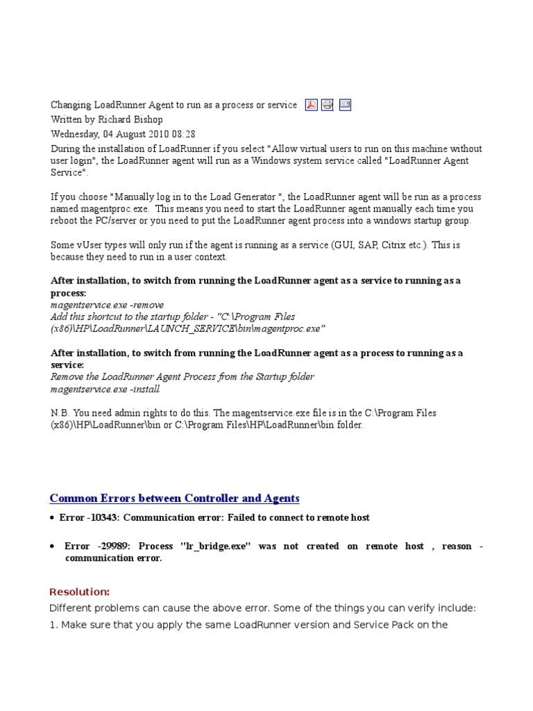 LoadRunner Stuff_CommonLRissuesblog - DocShare tips