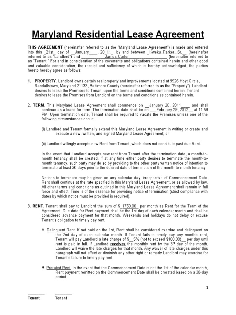 Download Arizona Residential Lease Agreement Docshare