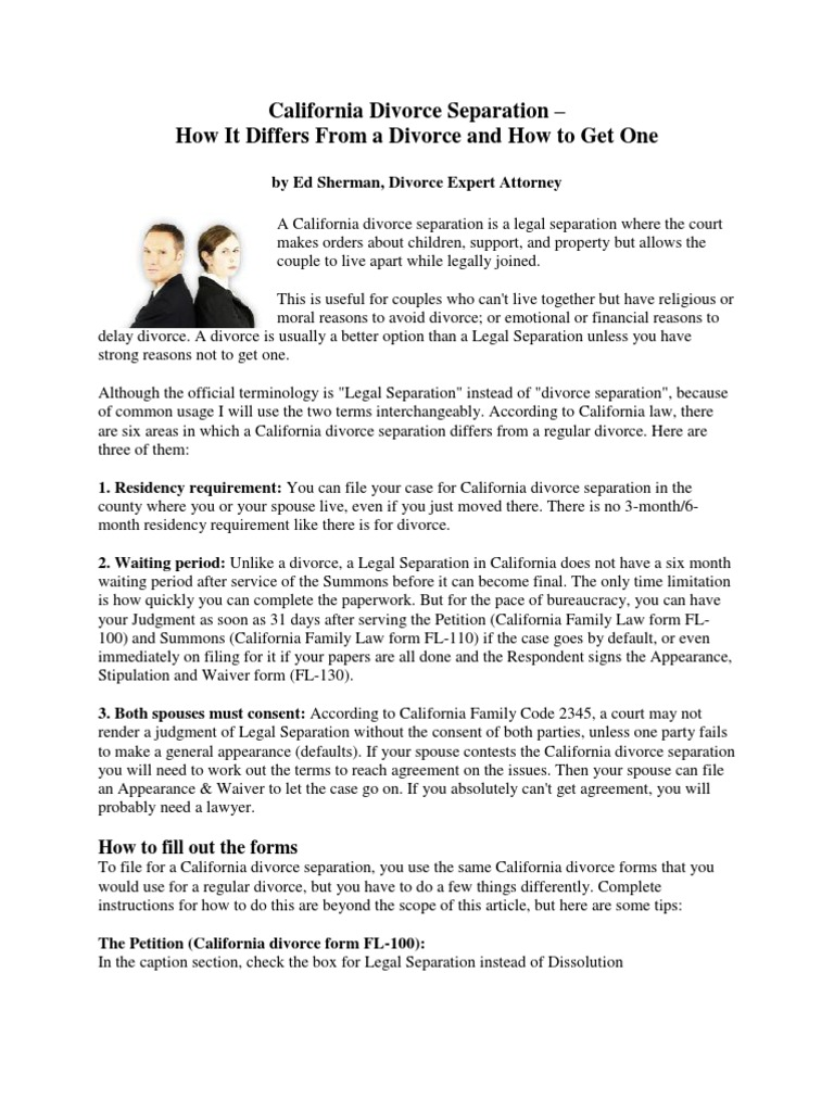 California Divorce Separation Docshare