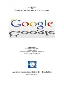 google strategy in 2010 case study Case 12 google's strategy in 2010 assignment questions 1 discuss competition in the search industry which of the five competitive forces seem strongest weakest.