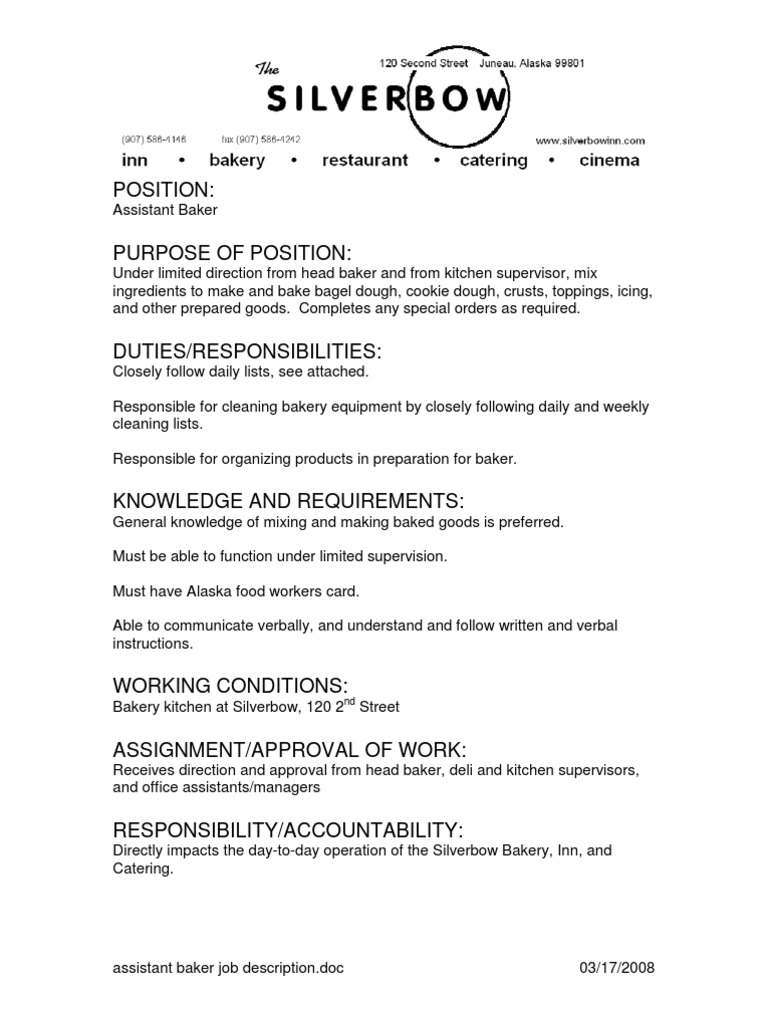 Download Job Description for Assistant Executive Housekeeper ...