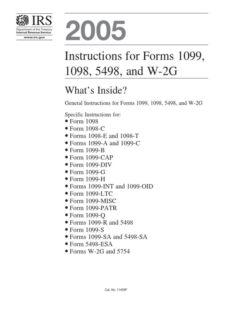 Download Us Internal Revenue Service I1099 Docshare