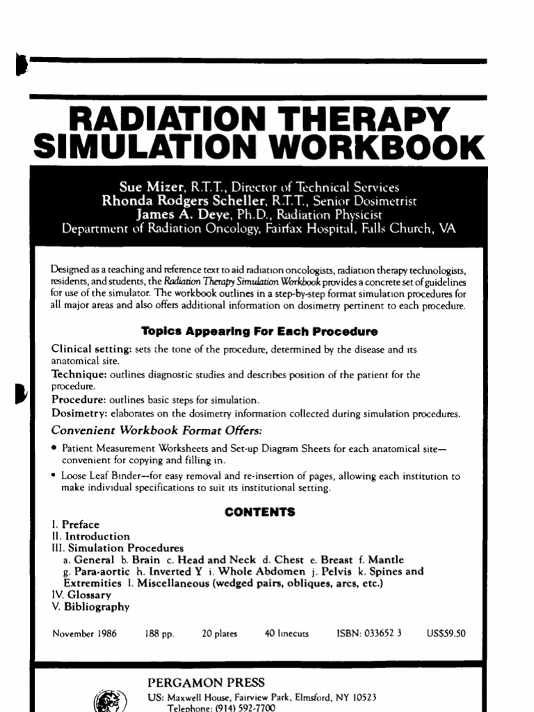 Radiation Therapy Simulation Workbook - DocShare tips