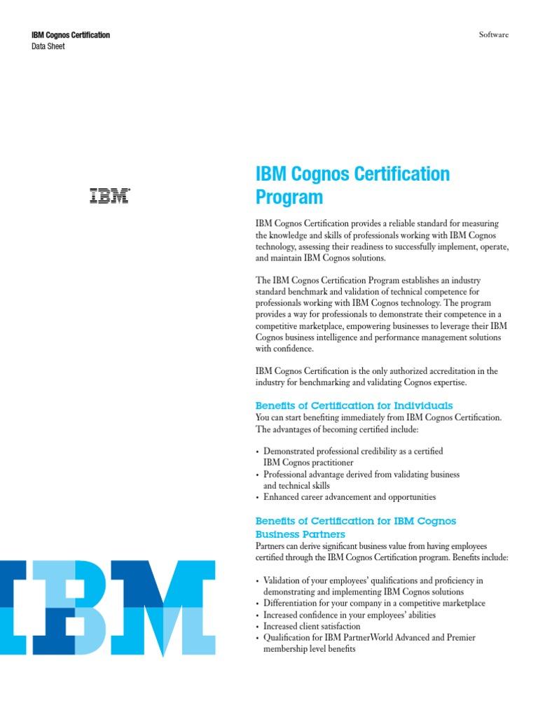 Download Ibm Cognos Certification Program Docshare