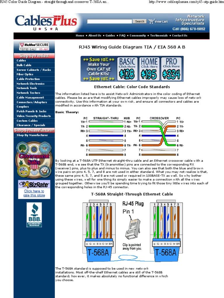 Download RJ45 Plug Ethernet Computer Network Color Code - DocShare.tips
