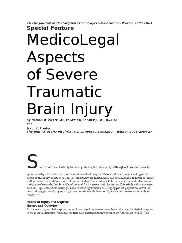 the major health issues of traumatic brain injury tbi and its treatments