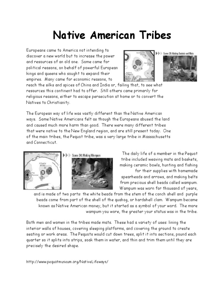 Native American Tribes Worksheet Docshare Tips