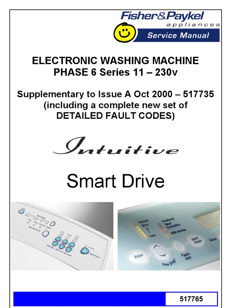 Fisher & Paykel Washer Fault Codes