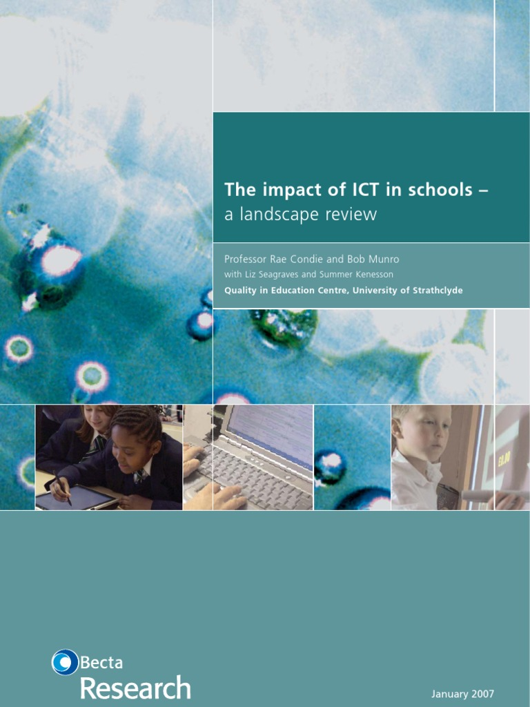 the impact of ict on students'