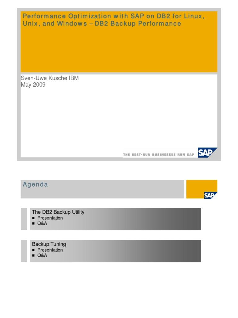 DB2 Backup Performance Presentation - DocShare tips