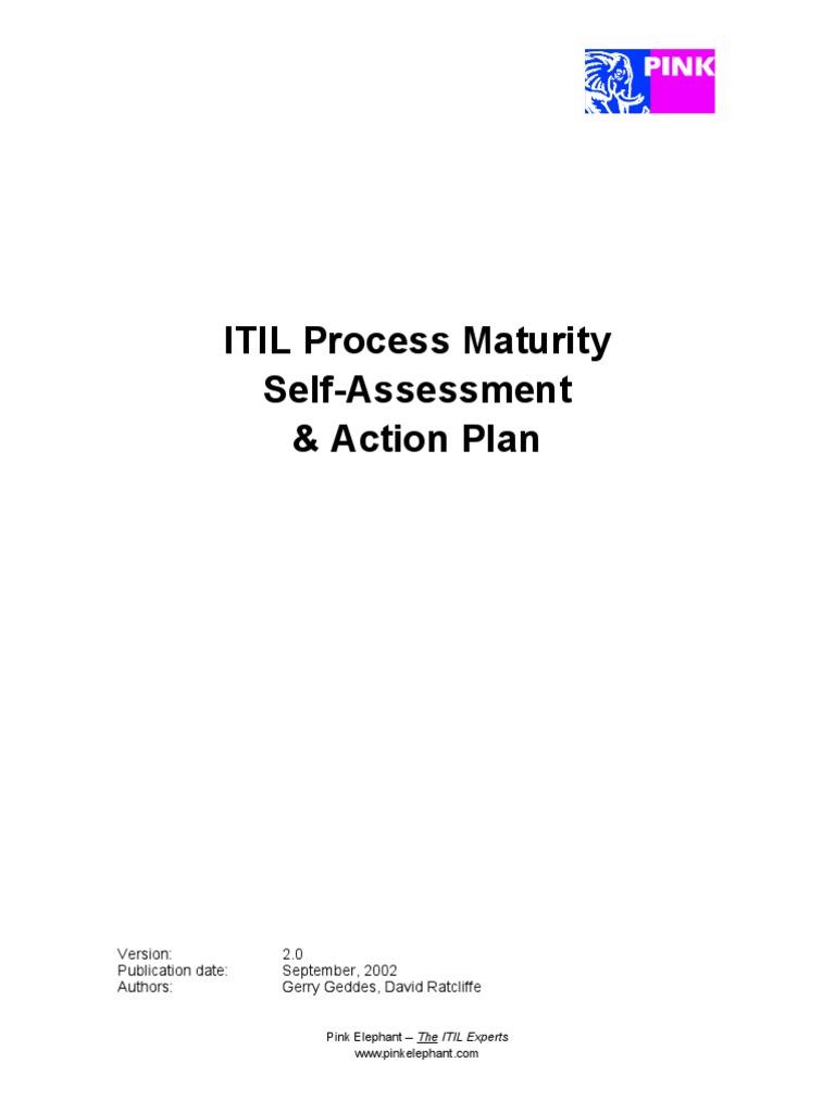 Itil Process Maturity Self Assessment Docshare