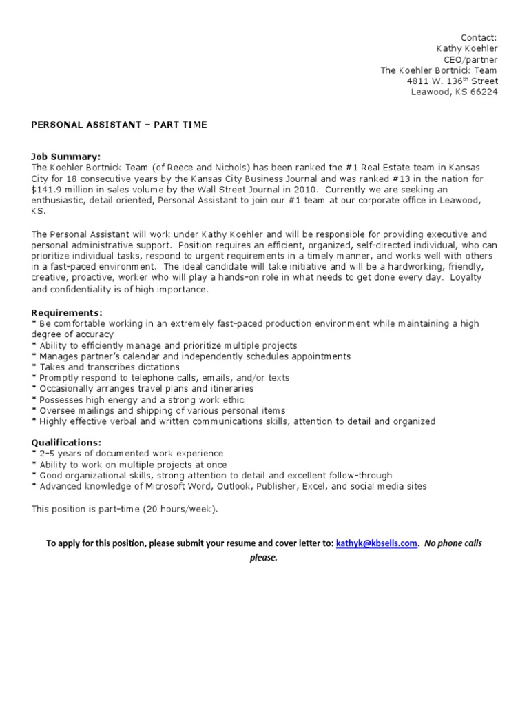 Download Community Lunch Operations Assistant Job Description
