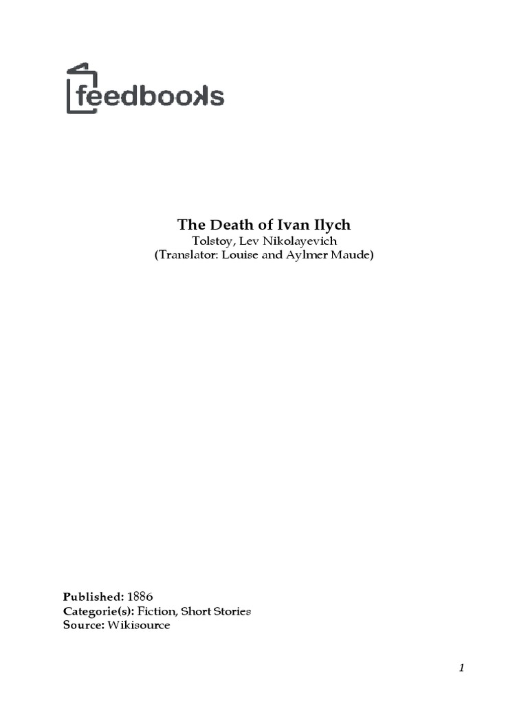 an analysis of the death of ivan illych