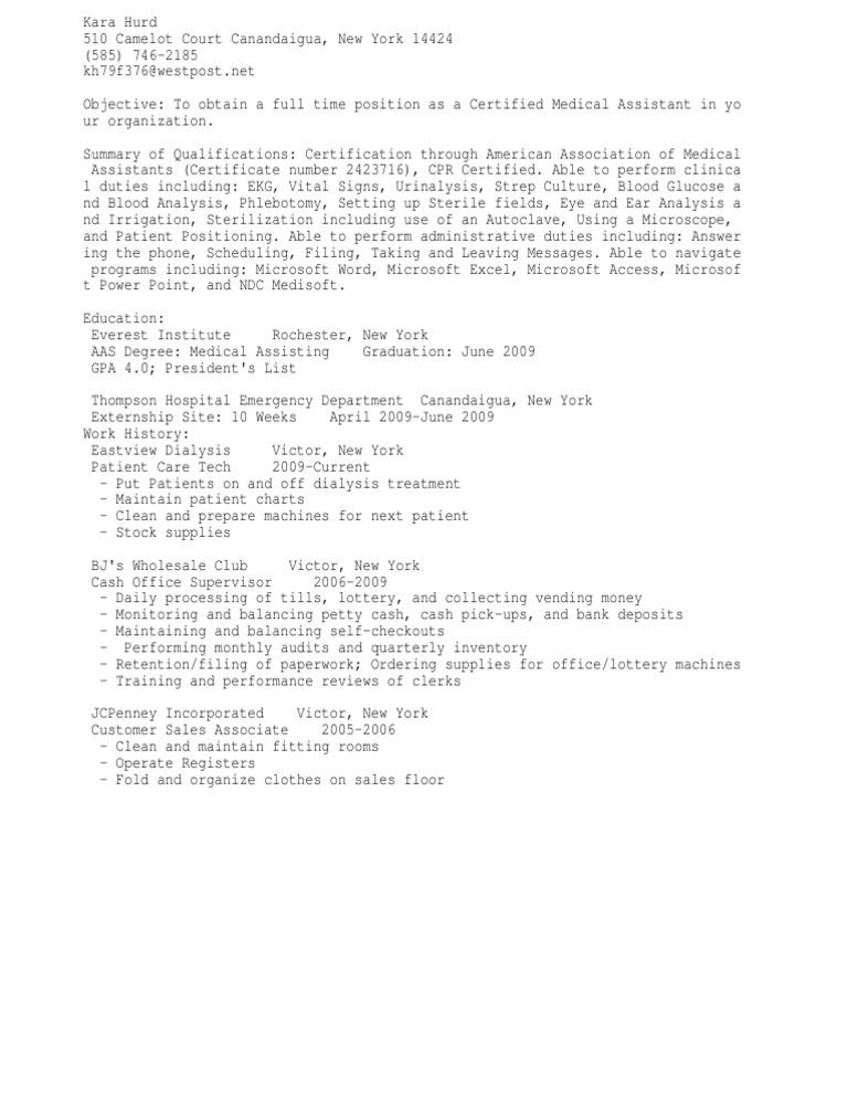 Download certified medical assistant or medical assistant - DocShare ...