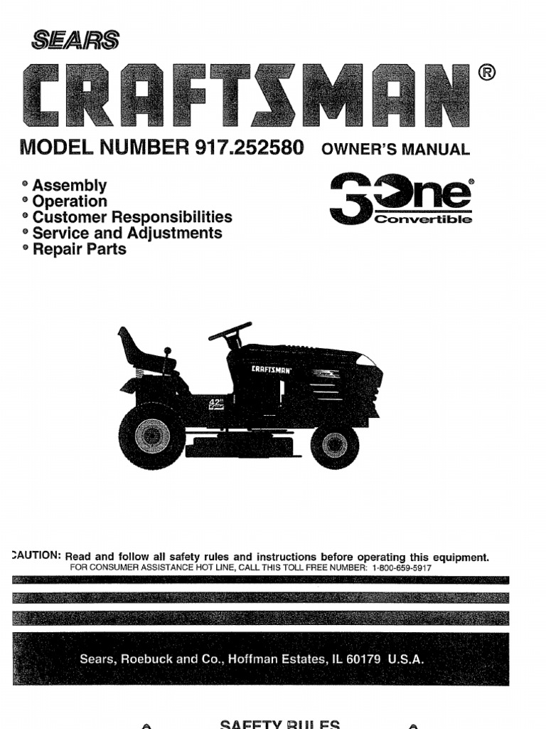 Lawn Tractor Manual