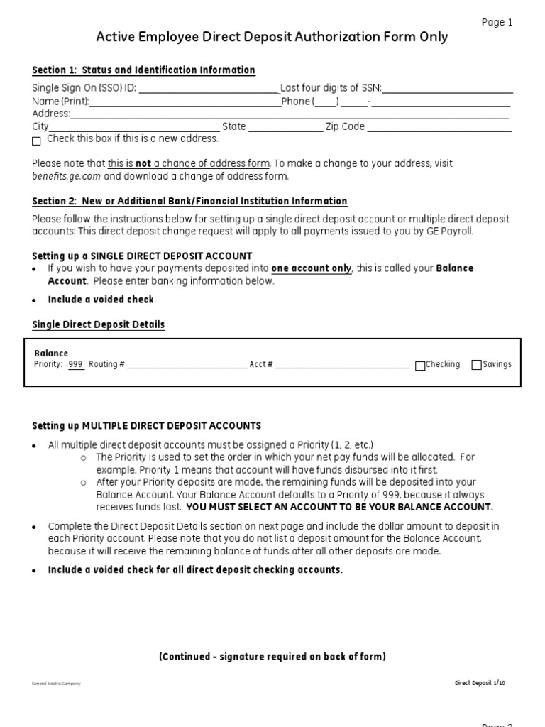 Check Out How To Opt Direct Deposit Election Form