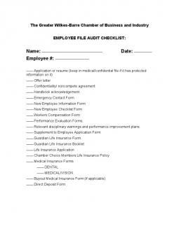 personnel file audit