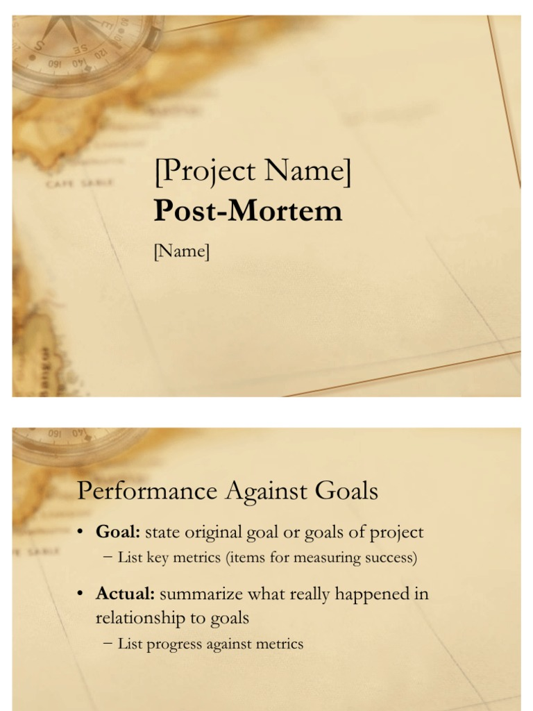 Download post mortem template for power point docshare alramifo Gallery