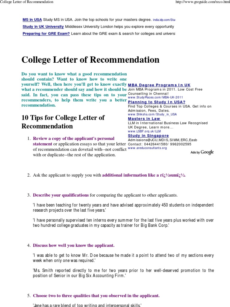 Download college admissions recommendation letter leadership download college admissions recommendation letter leadership qualities mitanshu Images