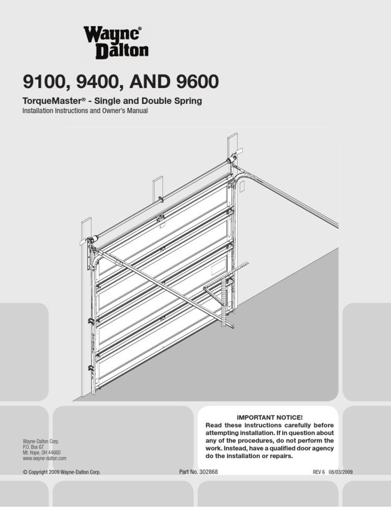 Download Legacy 696cd B Garage Door Opener Owners Manual Wayne Dalton Wiring Diagram 302868 Rev6 08 03 2009