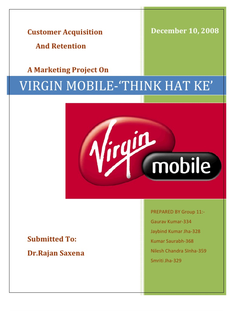 virgin mobile marketing mix