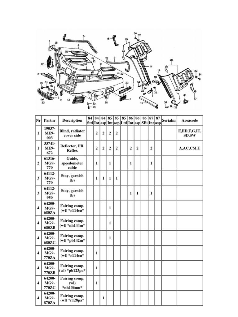 Honda Goldwing Gl1200 Parts Manual 4700b 1986 Wiring Diagram