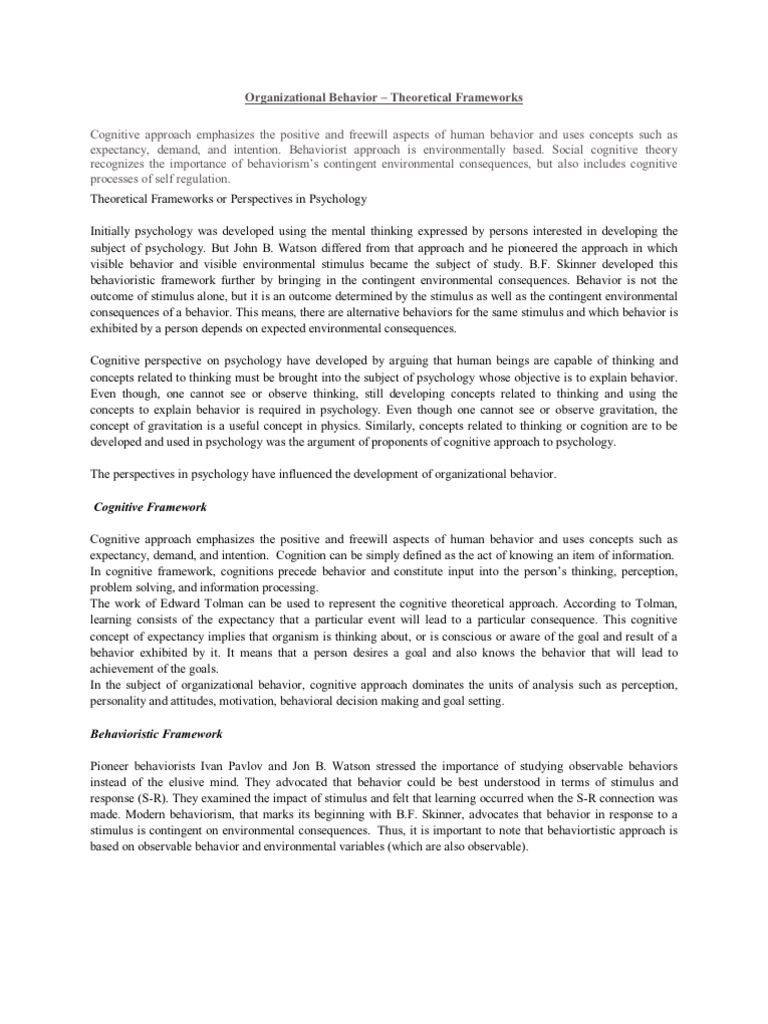 information technology and modalisation of organizational behavior essay Beyond any specific technology questions, there are important aspects that can  be supported or even enabled by  corporate memory or organizational  memory (om)  swiss life information systems research group postfach ch- 8022 zurich  the structure and behaviour of the induced taxonomy.