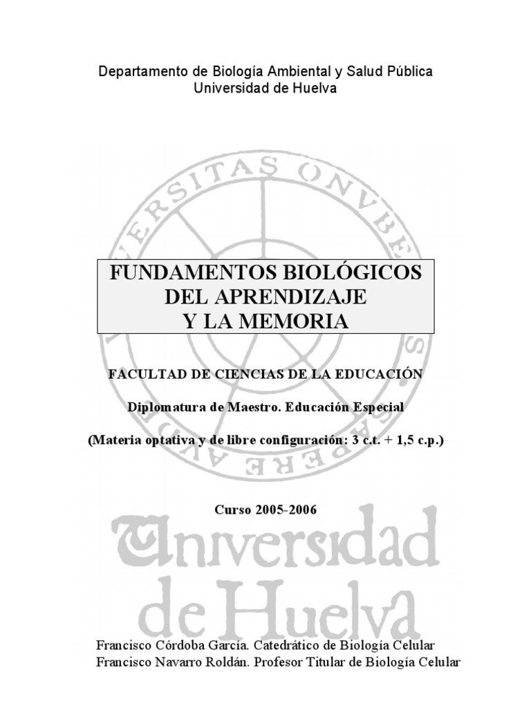 Fundamentos Biologicos Del Aprendizaje y La Memoria - Prog-FBAM-05 ...