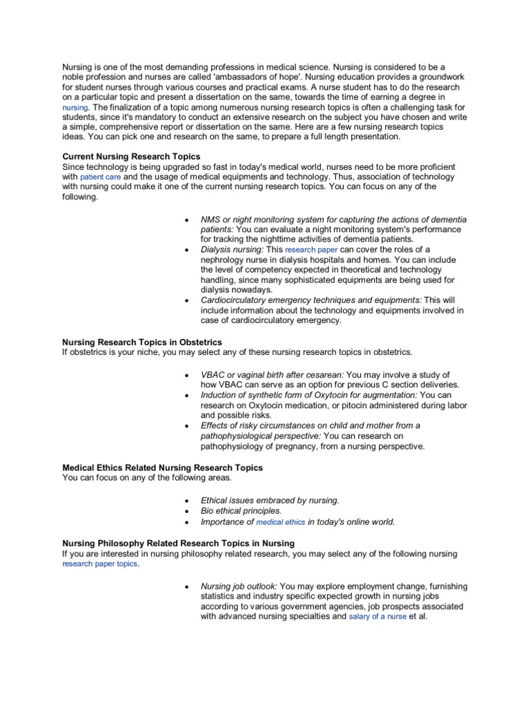 nursing research synthesis paper Paper evaluation of a nurse theorist's work, (c) (analysis, synthesis  introduction to nursing theory and research.