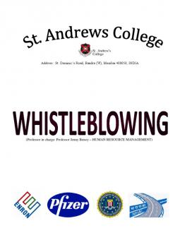 whistle blowing term papers This sample paper on (sample essay paper on whistle-blowing) was uploaded by one our contributors and does not necessarily reflect how our professionals write our papers.